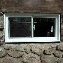 vinyl double paneled low e glass renovated basement windows
