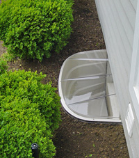 basement egress window well in Haverhill