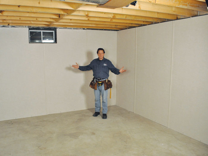 Basement Remodeling Boston basement to beautiful insulated wall panels | inorganic basement