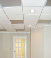 Basement Ceiling Tiles for a project we worked on in Haverhill, Massachusetts