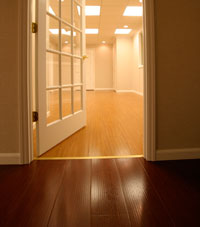Basement Wood Flooring installed in Somerville, Massachusetts
