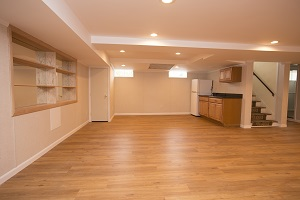 Basement finishing flooring in Boston & nearby